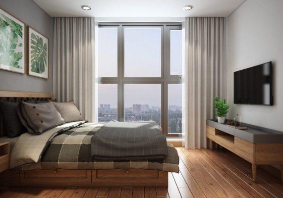 Thiết kế nội thất phòng ngủ căn hộ Home Max