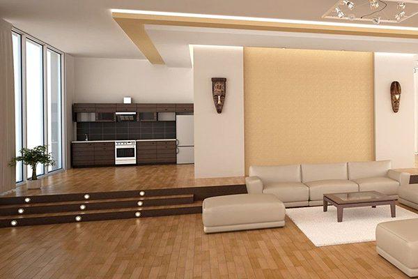 Nên hay không nên thiết kế nền bếp thấp hơn nền nhà?