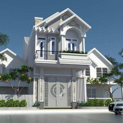 Thiết kế Nhà phố mái Thái siêu đẹp