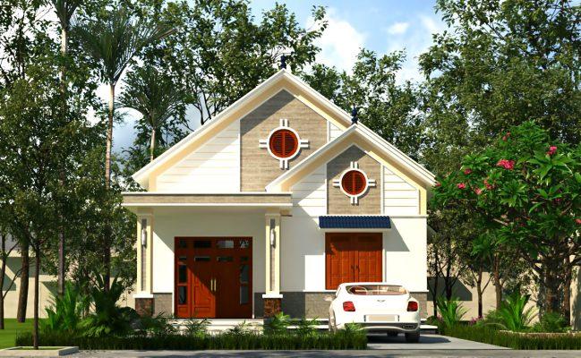 Thiết kế nhà vườn đẹp 9x17m tại Yên Lạc Vĩnh Phúc